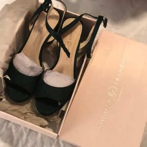 Theresa Suede Chinese Laundry Forest Green Heel